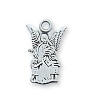 (L465B) STERLING SIL. GUARDIAN ANGEL