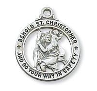 """(L604) SS ST CHRIS OPEN RD MEDAL 20"""","""