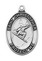 """(L675SNB) SS SNOWBARDING MEDAL 24""""CH&BX"""