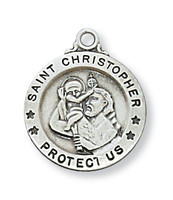 "(L700CH) SS SML ST. CHRISTOPHER 18"" CH"