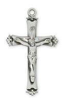 (L9037) SS CRUCIFIX W/18 CHAIN & BOX""