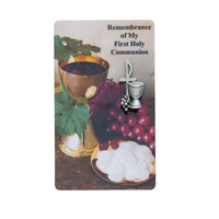 (PCD98) PEWTER COMMUNION PIN WITH