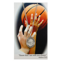 (PSD676BK) GIRLS BASKETBALL PRAY CARD SET