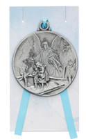 (PW12-GAB) GUARDIAN ANGEL CRIB MEDAL/CARD