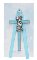 "(PW14-B) 3 1/2"" BLUE BOY CRIB CROSS"