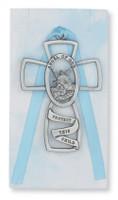 (PW5-B) GUARDIAN ANGEL CROSS/BLUE CARD