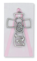 (PW5-P) GUARDIAN ANGEL CROSS PINK CARD