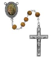 (R199DF) OLIVE WOOD ST. JOSEPH ROSARY