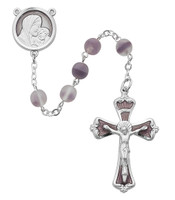 (R250RF) 7MM FROSTED LAVENDER ROSARY
