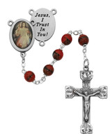 (R254DF) RED DIVINE MERCY ROSARY