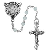 (R368DG) BLUE GUARDIAN ANGEL ROSARY