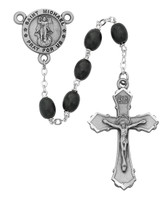 (R377DF) 6X8MM BLK ST MICHAEL ROSARY