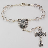 (AR29C) 6MM CRYSTAL AUTO ROSARY