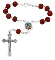 (AR2C) ST. THERESE AUTO ROSARY/CARDED