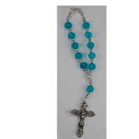 (AR50C) BLUE SCENTED AUTO ROSARY