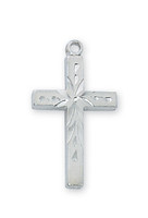 "(RC7002W) RF ENGRAVED CROSS 16"" CHAIN&BX"