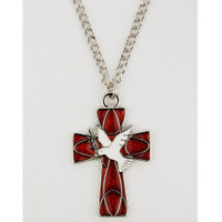(RC9149C) RHODIUM ENAMEL HOLY SPIRIT