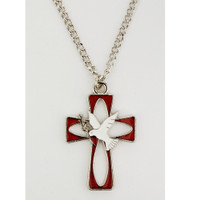 (RC9152C) RHODIUM ENAMEL HOLY SPIRIT