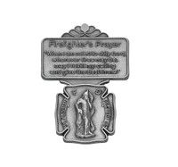 (VC-861) FIREFIGHTER PRAYER VISOR CLIP