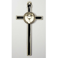 "(75-16) 5 1/2"" BLACK EPOXY CROSS"
