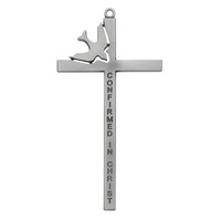 (77-37) 6 PEWTER CONFIRMATION CROSS