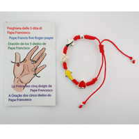 (BR624C) RED FIVE FINGER CORD BRACELET