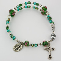 (BR656CS) MAGNETIC GREEN REAL CRYSTAL