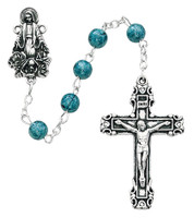 (P232R) BLUE MIRACULOUS ROSARY