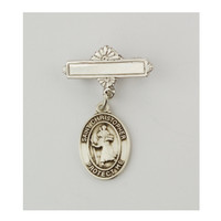 (437L) SS ST. CHRISTOPHER RF BABY PIN
