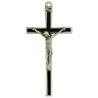"(73-40) 5"" BLAC ENAMEL CRUCIFIX, BOXED"