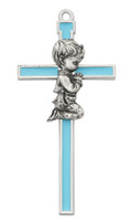 "(73-41) 5 1/2"" BLUE EPOXY BOY CROSS"