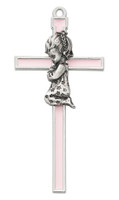 "(73-42) 5 1/2"" PINK EPOXY GIRL CROSS"