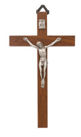 "(94-36) 5"" BROWN WOOD CRUCIFIX"
