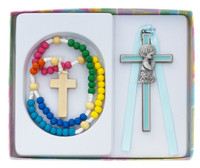 (BS55) KIDDIE ROSARY/BOY BLUE CROSS