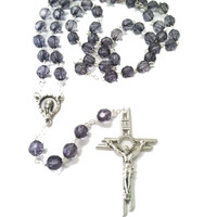(P249R) 8MM BLUE MONTANA ROSARY