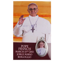 (PMHC) POPE FRANCIS MEDAL W/HOLY CARD