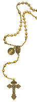 (P250R) GOLD PLATED ST. BEND ROSARY