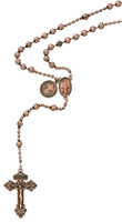 (P251R) COPPER PLATED ST. BEND ROSARY