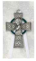 (PW28) CELTIC CROSS BABY GIRL CRIB
