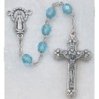 (120-AQR) 6MM AB AQUA/MARCH ROSARY