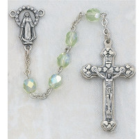 (120-PER) 6MM AB PERIDOT/AUGUST ROSARY