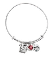 (BN639L-RS) PINK PRAYER BOX BANGLE BRAC