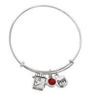 (BN639L-RU) RUBY PRAYER BOX BANGLE BRAC