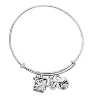 (BN639L-CR) CRYSTAL PRAYER BOX BANGLE BRAC
