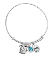 (BN639L-AQ) AQUA PRAYER BOX BANGLE BRAC
