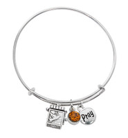 (BN639L-TO) TOPAZ PRAYER BOX BANGLE BRAC