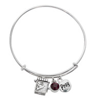 (BN639L-DA) DARK AM PRAYER BOX BANGLE BRAC