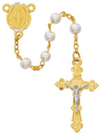 (R672HF) 6MM GP TWO TONE PEARL ROSARY