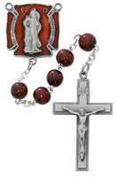 (R674DF) 7MM RED FIREFIGHTER ROSARY