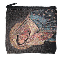 (RP4) PRAYING MADONNA ROSARY CASE